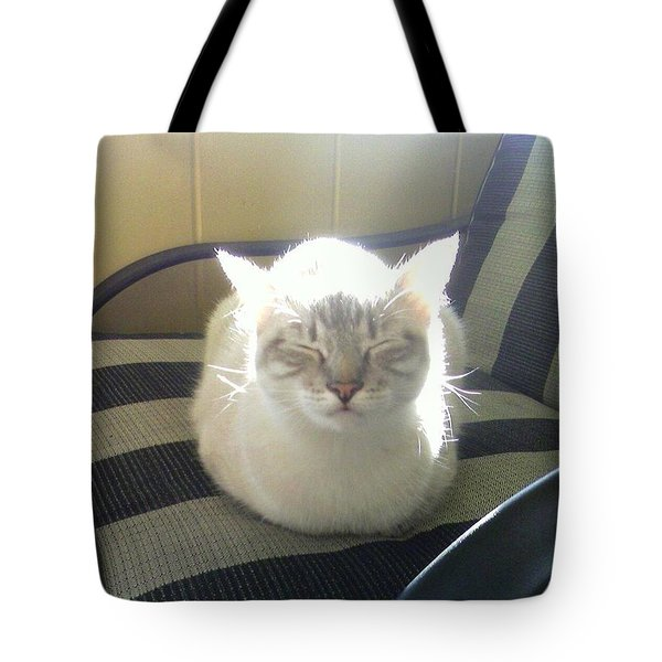 Sunshine Kitty Tote Bag by Deborah Lacoste
