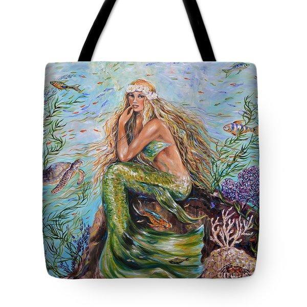 Sunshine Mermaid Square Tote Bag