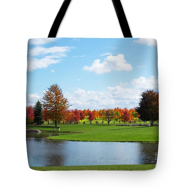 Sunshine On A Country Estate Tote Bag