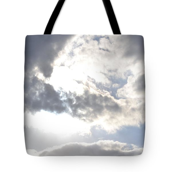 Tote Bag featuring the photograph Sunshine Through The Clouds by Tara Potts