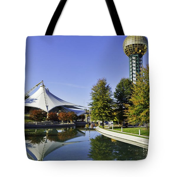 Sunsphere In The Fall Tote Bag