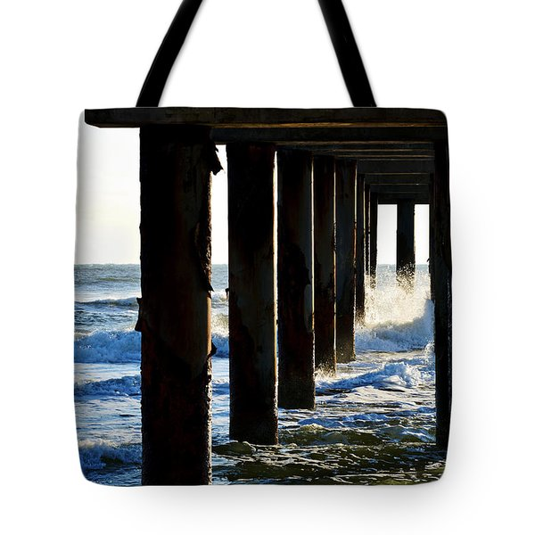 Sunwash At St. Johns Pier Tote Bag