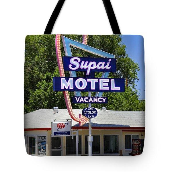 Supai Motel - Seligman Tote Bag by Mike McGlothlen