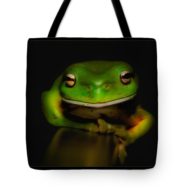 Tote Bag featuring the photograph Super Frog 01 by Kevin Chippindall