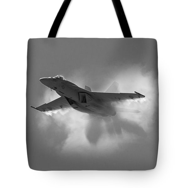Super Hornet Shockwave Bw Tote Bag