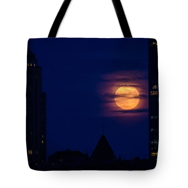 Super Moon Rises Tote Bag by Mike Ste Marie