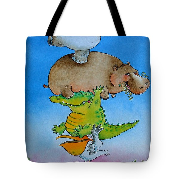 Super Mouse Pen & Ink And Wc On Paper Tote Bag by Maylee Christie