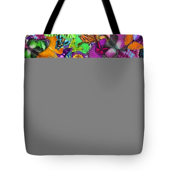 Super Rainbow Butterflies Tote Bag by Alixandra Mullins