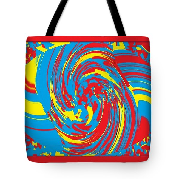 Tote Bag featuring the painting Super Swirl by Catherine Lott