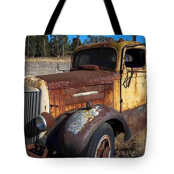 Super White Truck Tote Bag