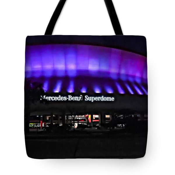 Superdome Night Tote Bag by Steve Harrington