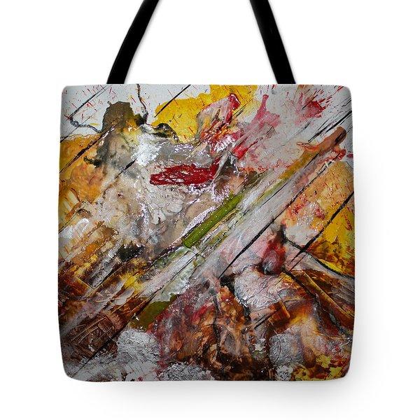 Superhero Meltdown Tote Bag by Lucy Matta