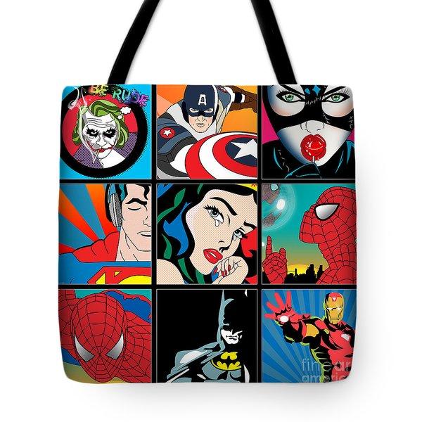 Superheroes Tote Bag by Mark Ashkenazi