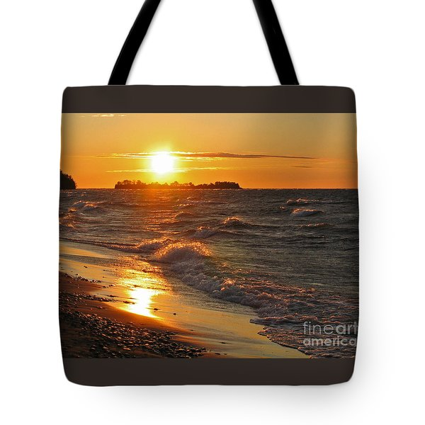 Superior Sunset Tote Bag by Ann Horn