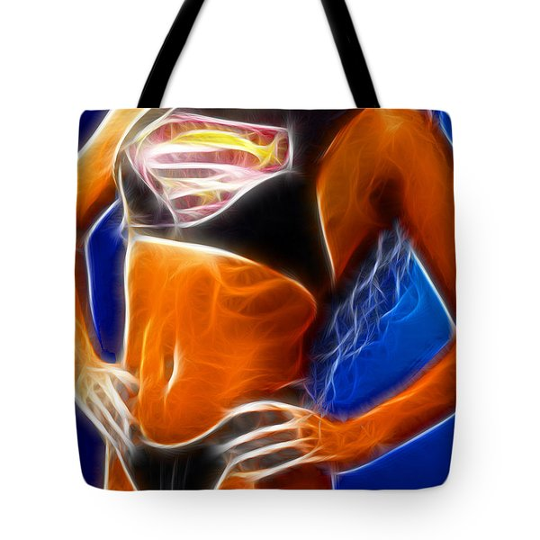 Superman 1 Fractal Tote Bag by Gary Gingrich Galleries