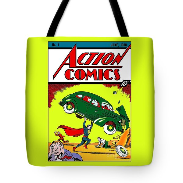 First Edition - Superman Comic Book  Tote Bag
