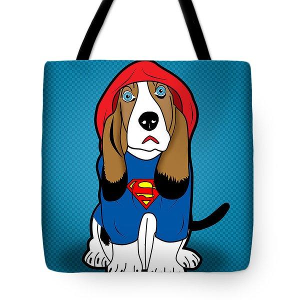 Superman Dog  Tote Bag by Mark Ashkenazi
