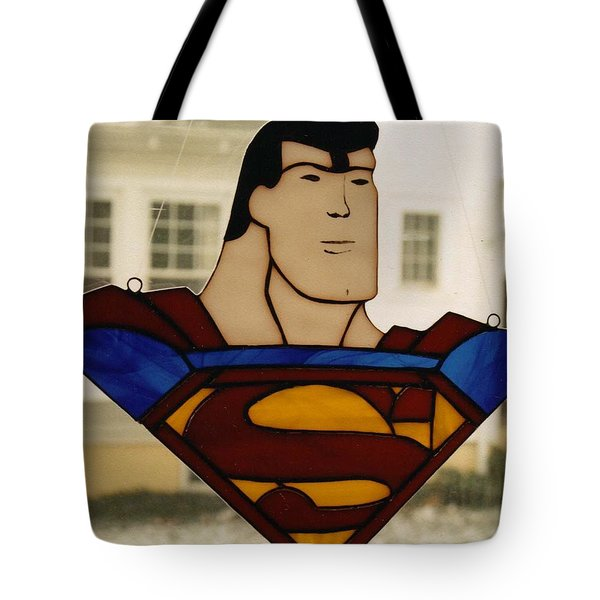 Superman Panel Tote Bag