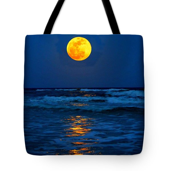Supermoon Rising On Navarre Beach 20120505c Tote Bag by Jeff at JSJ Photography