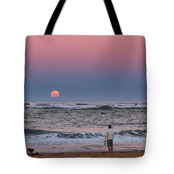 Supermoonrise Tote Bag