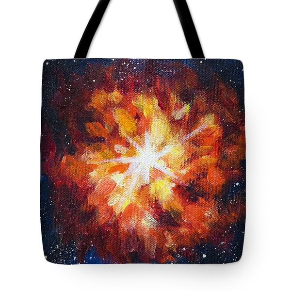 Supernova Explosion Tote Bag by Yulia Kazansky