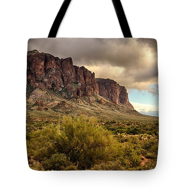 Superstition Mountains  Tote Bag by Saija  Lehtonen