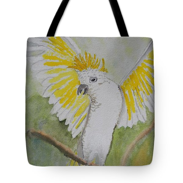 Suphar Crested Cockatoo Tote Bag by Pamela  Meredith