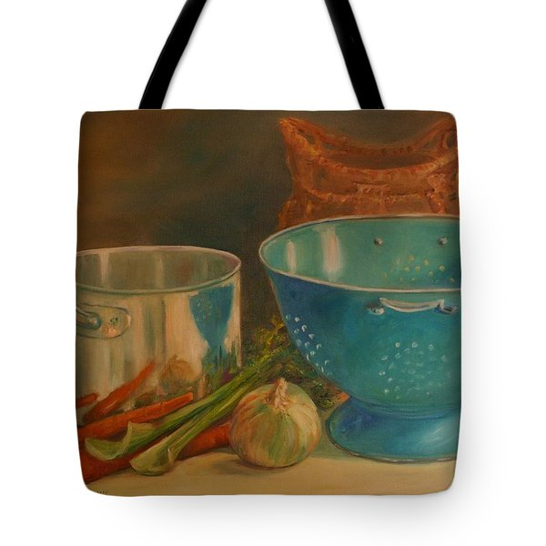 Tote Bag featuring the painting Supper's Gonna Be Late by Dorothy Allston Rogers