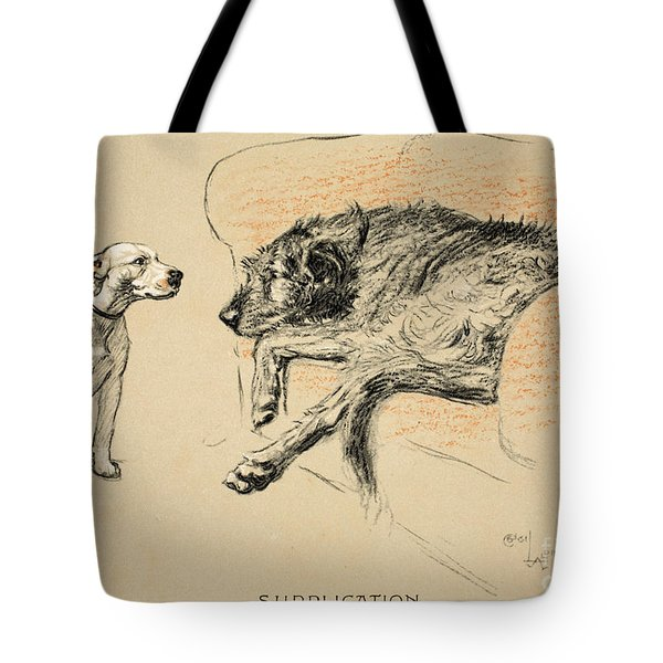 Supplication Tote Bag by Cecil Charles Windsor Aldin