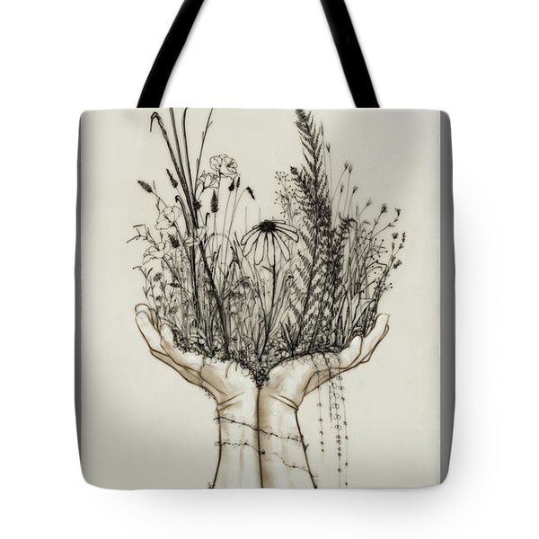 Supported Meadow Tote Bag