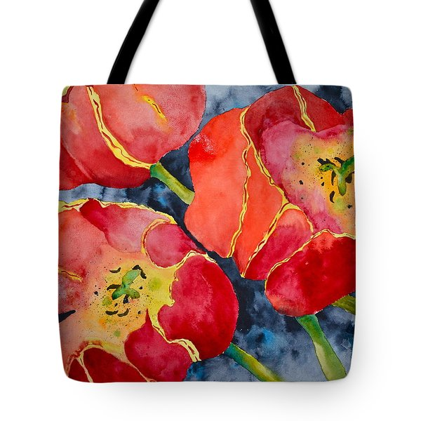 Supta Vajrasana Tote Bag by Beverley Harper Tinsley