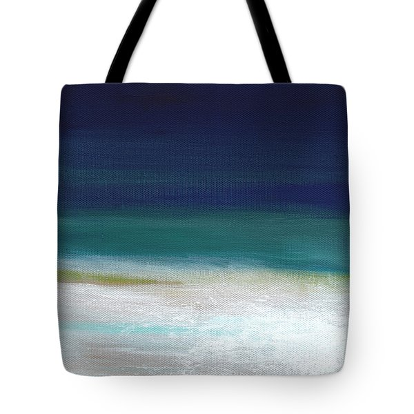 Surf And Sky- Abstract Beach Painting Tote Bag