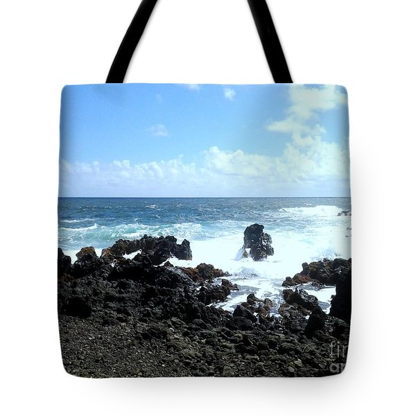 Tote Bag featuring the photograph Surf At Hana by Fred Wilson