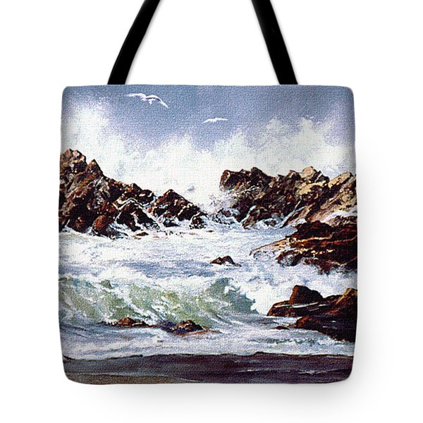 Surf At Lincoln City Tote Bag by Craig T Burgwardt