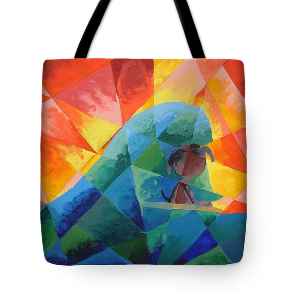 Tote Bag featuring the painting Surf Dog by Lola Connelly