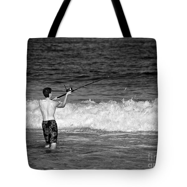 Surf Fishing Tote Bag by Mark Miller