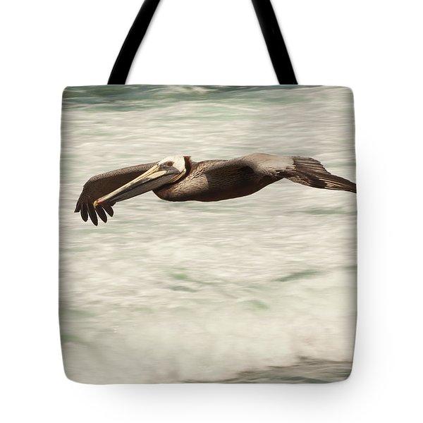 Surf Fishing Pelican Tote Bag by Daniel Hebard