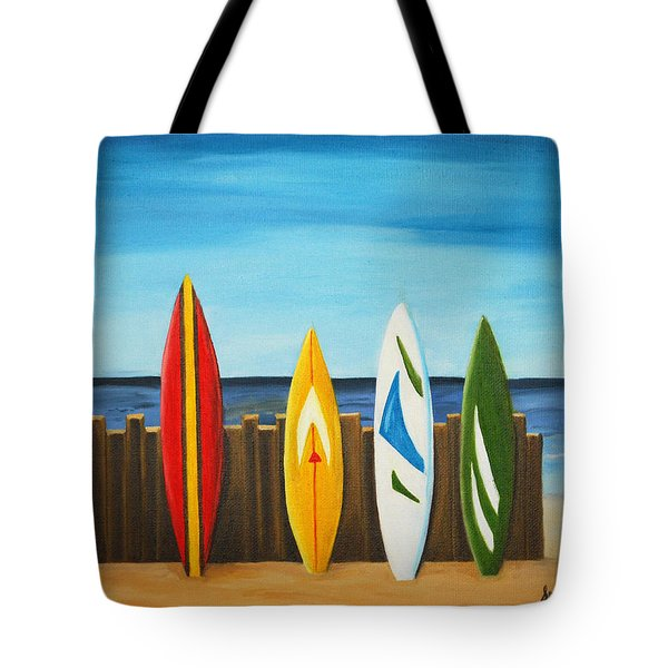 Surf On Tote Bag