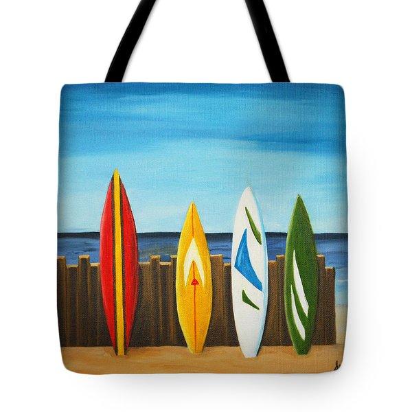 Surf On Tote Bag