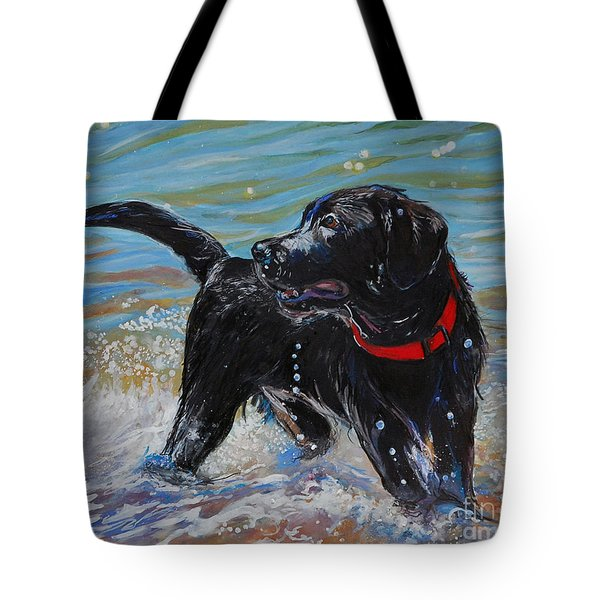 Surf Pup Tote Bag by Molly Poole