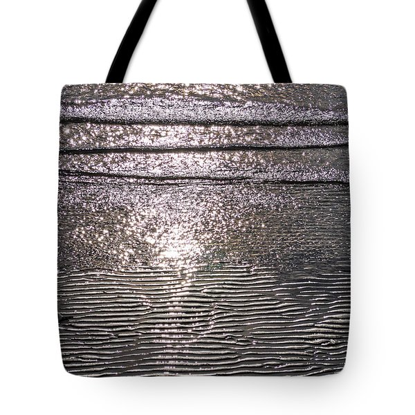 Tote Bag featuring the photograph Surf Sand Seagull by Jordan Blackstone