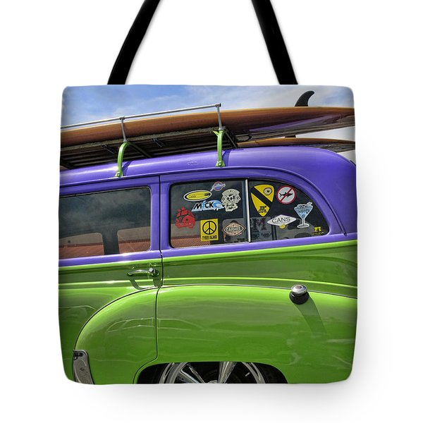 Surf Wagon Tote Bag by Kenny Francis