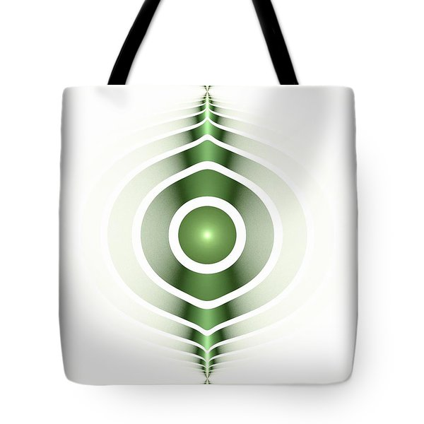 Surface Waves - Green Tote Bag by Anastasiya Malakhova