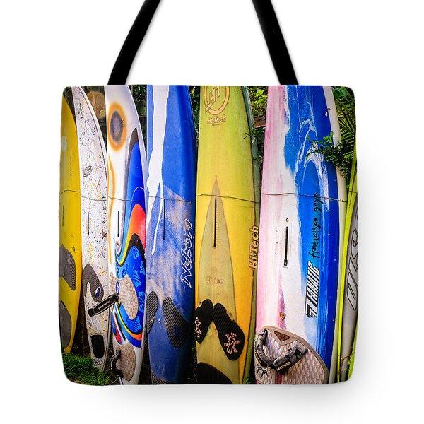 Surfboard Fence Maui Hawaii Tote Bag