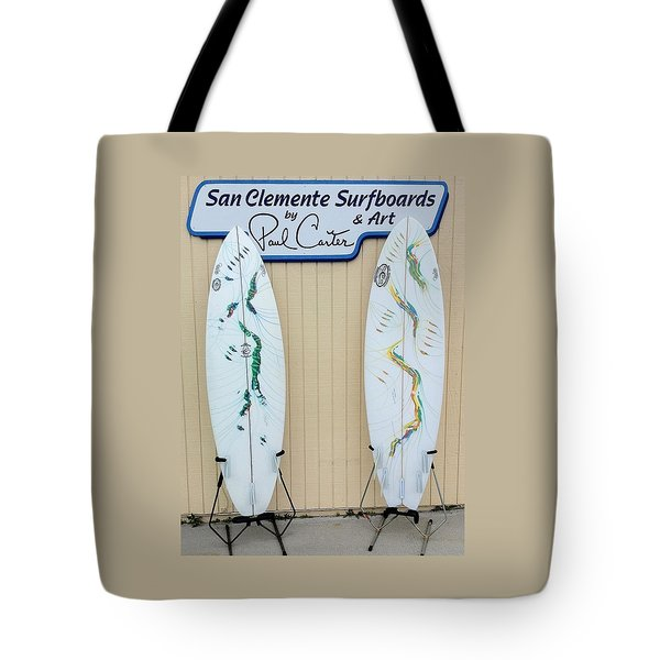Surfboards In San Clemente Tote Bag