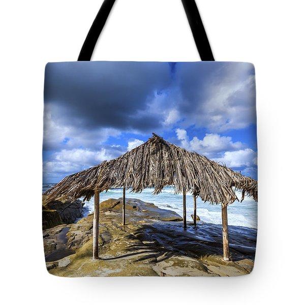 Iconic Surf Shack Tote Bag