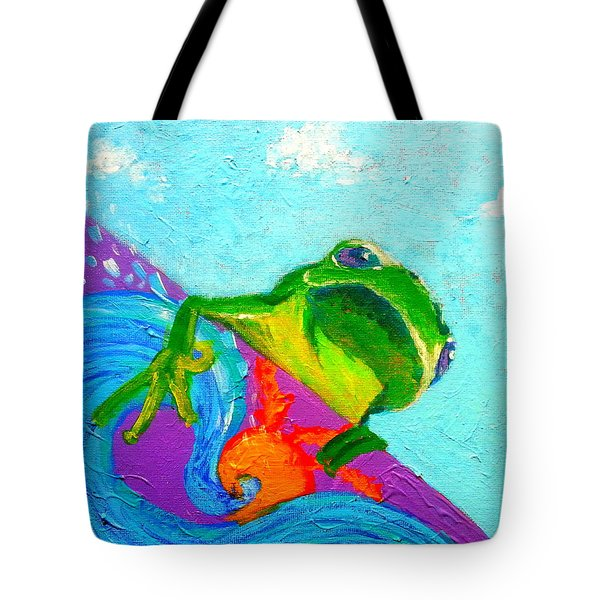 Surfing Froggie Tote Bag