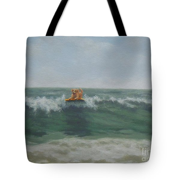 Surfing Golden Tote Bag