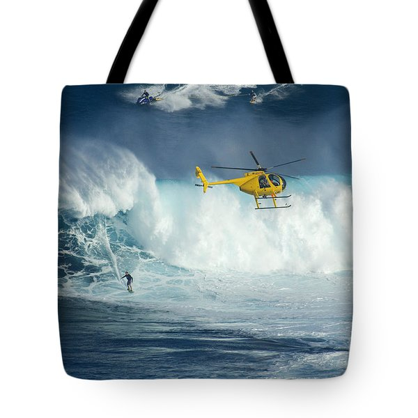 Surfing Jaws 6 Tote Bag by Bob Christopher