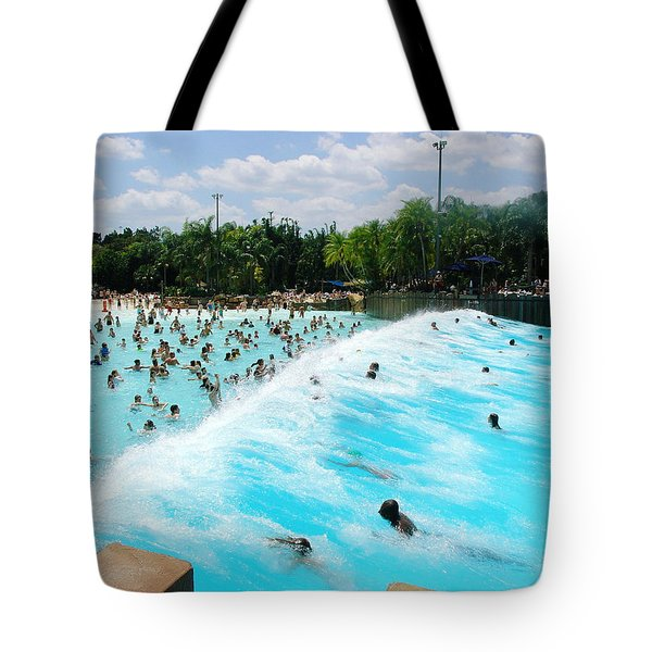 Tote Bag featuring the photograph Surfs Up by David Nicholls